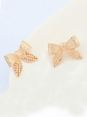 Occident Cartoon Schleifen Metallic Stud Hot Sale Ohrringe