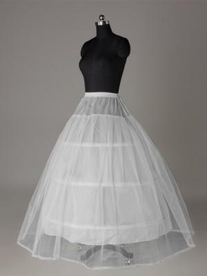 Tüll Netzting Duchesse-Linie 2 Tier Bodenlang Slip Style/Wedding Jupons